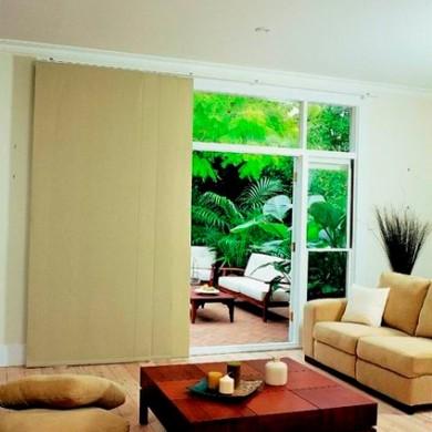 Японские шторы на большие окна