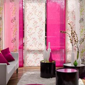Японские шторы с разными полотнами
