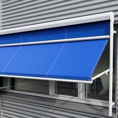 балконная маркиза как защита от солнца для офиса