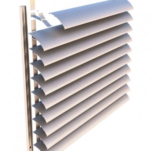 Фасадные жалюзи неподвижные конструкция