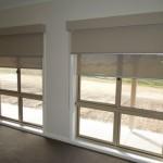Двойные рулонные шторы день ночь на больших окнах