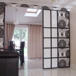 Японские шторы для разделения комнаты в комнате