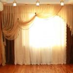 Императорские шторы в гостиной