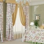 Итальянские шторы в спальне