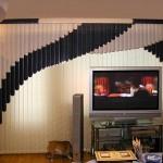 Мультифактурные вертикальные жалюзи в комнате
