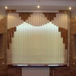 Мультифактурные вертикальные жалюзи  в гостиной