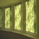 Рулонные жалюзи на окнах